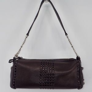 Brighton Handbag Brown Satchel Silver Hardware